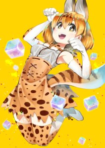 Rating: Safe Score: 26 Tags: animal_ears kemono_friends serval tail thighhighs tsurushima_tatsumi User: Mr_GT