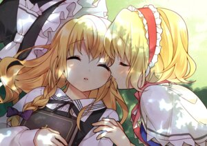 Rating: Safe Score: 35 Tags: alice_margatroid hanabana_tsubomi kirisame_marisa touhou yuri User: fairyren