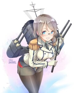Rating: Safe Score: 40 Tags: cosplay kanabun_(artist) kantai_collection katori_(kancolle) love_live!_sunshine!! megane pantyhose uniform watanabe_you weapon User: Mr_GT