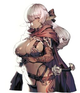 Rating: Questionable Score: 39 Tags: armor bikini_armor cozy elf pointy_ears sword tattoo User: BattlequeenYume