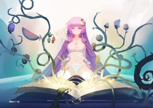 Rating: Questionable Score: 80 Tags: bridow cleavage lingerie pantsu patchouli_knowledge thighhighs touhou User: Mr_GT
