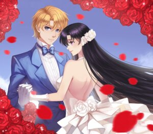 Rating: Safe Score: 10 Tags: douyougen dress hino_rei jadeite no_bra sailor_moon User: charunetra