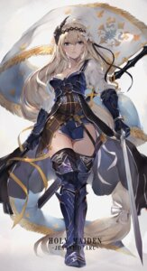 Rating: Safe Score: 102 Tags: armor cleavage granblue_fantasy jeanne_d'arc jeanne_d'arc_(granblue_fantasy) oyu_(sijimisizimi) sword thighhighs User: BattlequeenYume