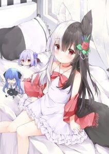 Rating: Safe Score: 76 Tags: animal_ears chibi dress fuyuki030 mana_alice mana_alice_channel tail User: Spidey