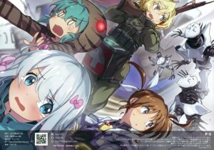 Rating: Safe Score: 20 Tags: armor bun150 crossover eromanga-sensei gun izumi_sagiri mahou_shoujo_lyrical_nanoha mecha mosome takamachi_nanoha tanya_degurechaff uniform weapon youjo_senki User: Hatsukoi