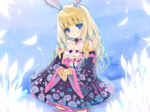 Rating: Safe Score: 39 Tags: animal_ears bunny_ears dress elin emily tera_online thighhighs User: blooregardo