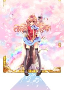 Rating: Safe Score: 21 Tags: aisaka_taiga michibachi_yuzu seifuku sword thighhighs toradora! User: charunetra