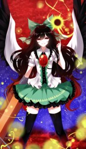 Rating: Safe Score: 18 Tags: reiuji_utsuho sheya thighhighs touhou wings User: Mr_GT
