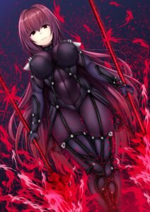 Rating: Questionable Score: 48 Tags: beeyan bodysuit erect_nipples fate/grand_order scathach_(fate/grand_order) thighhighs weapon User: mash