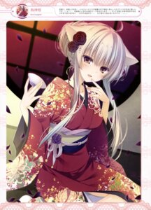 Rating: Questionable Score: 54 Tags: animal_ears inugami_kira kimono nekomimi User: drop