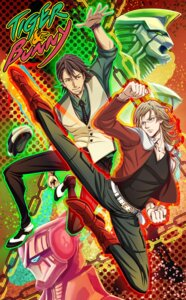 Rating: Safe Score: 4 Tags: barnaby_brooks_jr hiramayu kaburagi_t_kotetsu male megane tiger_&_bunny User: charunetra