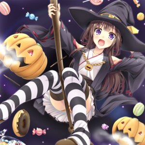 Rating: Safe Score: 82 Tags: halloween jpeg_artifacts kantai_collection kongou_(kancolle) moeki_yuta pantsu shimapan thighhighs witch User: Zenex