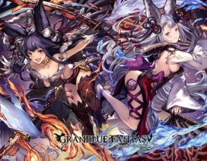 Rating: Questionable Score: 56 Tags: animal_ears b bikini_armor cleavage granblue_fantasy no_bra socie_(granblue_fantasy) sword thighhighs yuel_(granblue_fantasy) User: drop