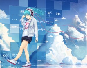 Rating: Safe Score: 9 Tags: hatsune_miku headphones vocaloid zk0 User: eridani