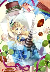 Rating: Questionable Score: 33 Tags: alice alice_in_wonderland dress sakuragi_kei thighhighs wet User: Twinsenzw