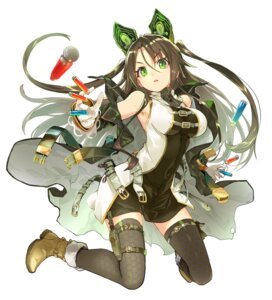 Rating: Safe Score: 98 Tags: dress shirabi thighhighs tokyo_inroaded:_closed_eden weapon yumiie_kanata User: KazukiNanako