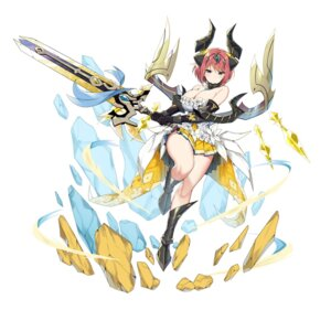 Rating: Questionable Score: 21 Tags: armor cleavage horns no_bra sky-freedom sword User: Dreista