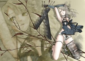 Rating: Questionable Score: 41 Tags: bandages kaine_(nier) masami_chie nier pantsu sword User: charunetra