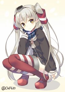 Rating: Safe Score: 56 Tags: amatsukaze_(kancolle) bekotarou kantai_collection seifuku thighhighs User: nphuongsun93