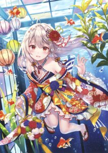 Rating: Safe Score: 100 Tags: cleavage fukahire_sanba japanese_clothes User: Twinsenzw