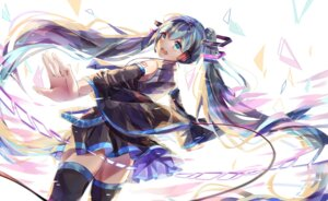 Rating: Safe Score: 36 Tags: hatsune_miku headphones tagme tattoo thighhighs vocaloid User: BattlequeenYume