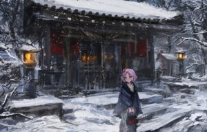 Rating: Safe Score: 29 Tags: aikatsu! kimono kitaooji_sakura landscape op-center User: blooregardo