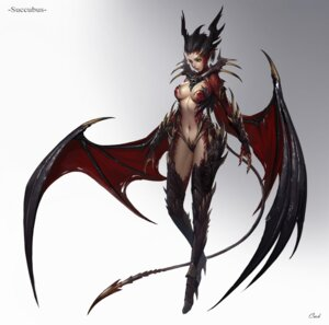 Rating: Questionable Score: 43 Tags: armor bikini_armor heels horns tagme tail thighhighs wings User: Radioactive