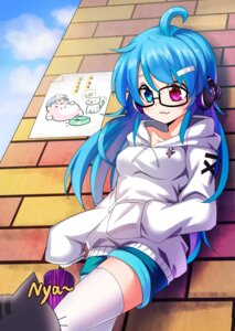 Rating: Safe Score: 24 Tags: headphones heterochromia koissa megane neko tatara_kogasa thighhighs touhou umbrella User: Mr_GT