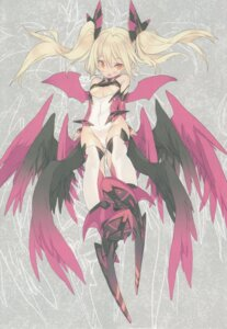 Rating: Questionable Score: 17 Tags: blade leotard pointy_ears thighhighs underboob wings User: chikiunokami