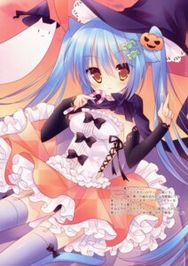 Rating: Questionable Score: 44 Tags: animal_ears dress halloween nekomimi sumii tail thighhighs witch User: back07