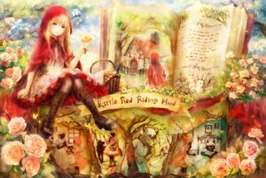 Rating: Safe Score: 42 Tags: dress little_red_riding_hood_(character) onineko pantyhose red_riding_hood User: fairyren