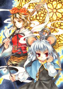 Rating: Safe Score: 8 Tags: animal_ears nazrin socha tail toramaru_shou touhou weapon User: Mr_GT
