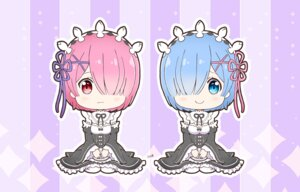 Rating: Safe Score: 44 Tags: chibi cleavage maid ram_(re_zero) re_zero_kara_hajimeru_isekai_seikatsu rem_(re_zero) tagme User: Brufh