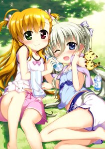 Rating: Safe Score: 56 Tags: asteion einhart_stratos fujima_takuya heterochromia mahou_shoujo_lyrical_nanoha mahou_shoujo_lyrical_nanoha_vivid sacred_heart towel vivio User: drop