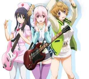 Rating: Safe Score: 44 Tags: fujimi_suzu guitar headphones nurse sonico super_sonico tagme thighhighs watanuki_fuuri User: K@tsu