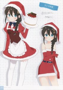 Rating: Safe Score: 13 Tags: christmas kantai_collection moni naoto shigure_(kancolle) thighhighs User: kiyoe