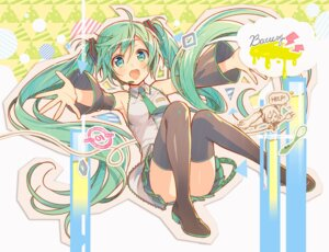 Rating: Safe Score: 48 Tags: hatsune_miku headphones murakami_yuichi thighhighs vocaloid User: Mr_GT