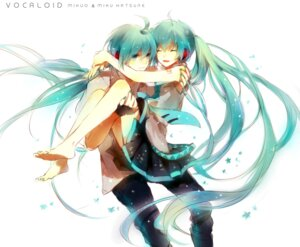 Rating: Safe Score: 25 Tags: genderswap hatsune_miku hatsune_mikuo i-riya vocaloid User: fairyren
