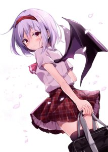 Rating: Safe Score: 44 Tags: hyurasan remilia_scarlet seifuku thighhighs touhou wings User: hiroimo2
