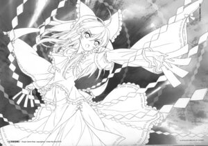 Rating: Safe Score: 16 Tags: an2a hakurei_reimu line_art monochrome touhou wind_mail User: fireattack