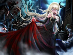 Rating: Questionable Score: 19 Tags: blood dress guro seifuku takarl_ume thighhighs User: blooregardo