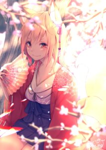 Rating: Safe Score: 33 Tags: animal_ears chita_(ketchup) cleavage japanese_clothes kitsune signed tail User: Mr_GT