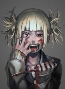 Rating: Questionable Score: 18 Tags: azuki_(azuki-taste) blood boku_no_hero_academia seifuku sweater toga_himiko weapon User: Anemone