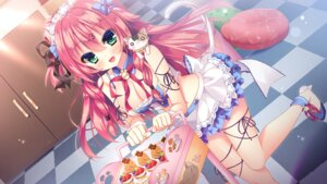 Rating: Questionable Score: 106 Tags: animal_ears cleavage game_cg heels maid nae-nae neko nekohana_korone nekomimi skyfish_poco tail wan_nyan_a_la_mode! User: donicila