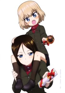 Rating: Safe Score: 8 Tags: girls_und_panzer katyusha nonna uniform valentine User: drop