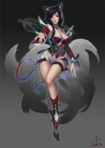 Rating: Questionable Score: 42 Tags: ahri animal_ears cleavage league_of_legends qaz2365643 tail User: sofronis