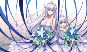 Rating: Safe Score: 29 Tags: azur_lane bel-chan_(azur_lane) belfast_(azur_lane) cleavage dress tagme wedding_dress User: charunetra