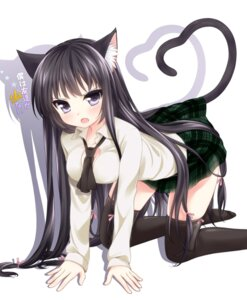 Rating: Safe Score: 76 Tags: animal_ears boku_wa_tomodachi_ga_sukunai etou mikazuki_yozora nekomimi seifuku tail thighhighs User: 椎名深夏