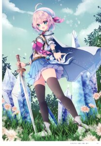 Rating: Safe Score: 16 Tags: skirt_lift sword tagme thighhighs User: kiyoe