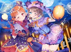 Rating: Safe Score: 27 Tags: dress halloween hina_(hinalovesugita) love_live!_sunshine!! tail takami_chika thighhighs watanabe_you User: Mr_GT